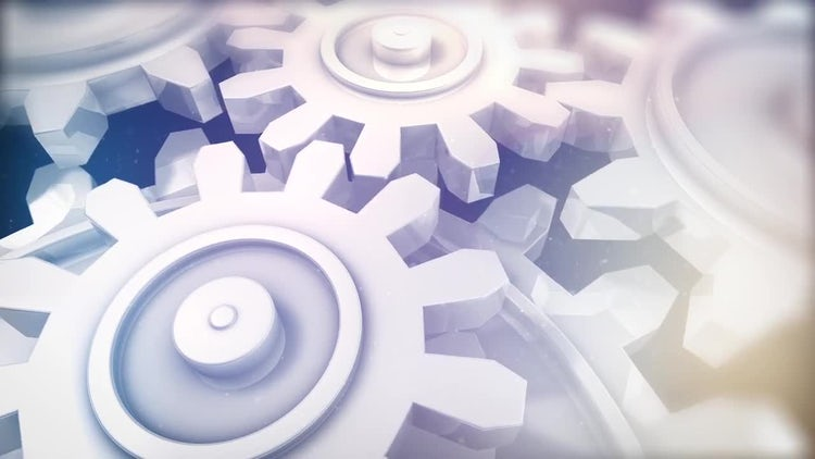 Elegant Cog Wheel: Stock Motion Graphics