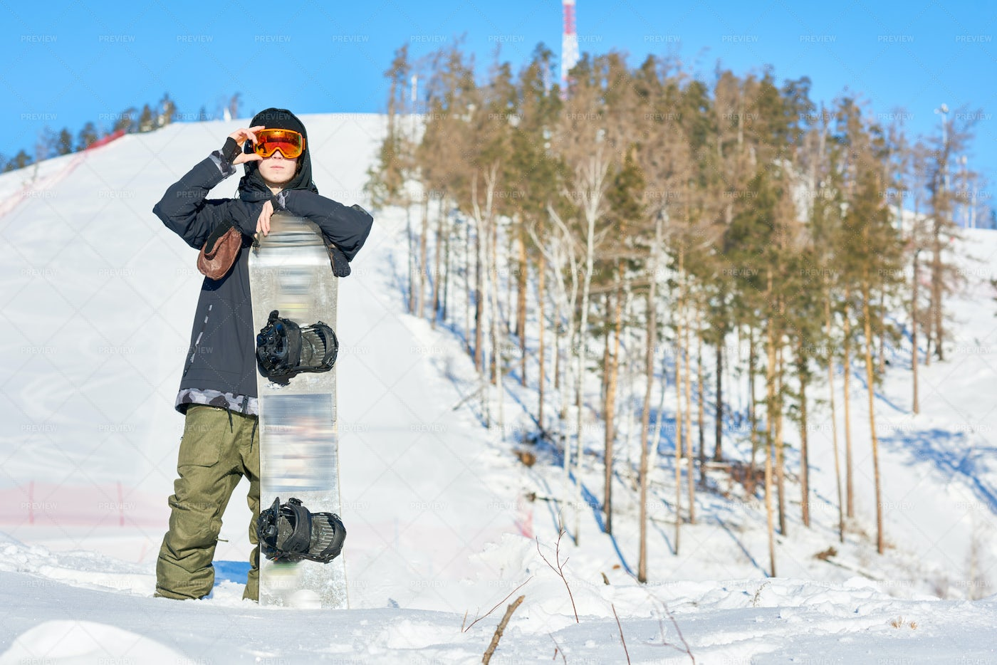 Professional Young Snowboarder: Stock Photos