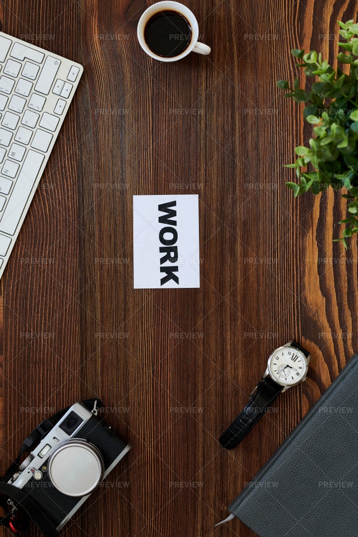 Work Flatlay: Stock Photos
