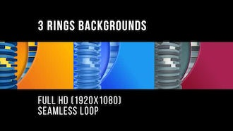 3 Frame Rings Backgrounds: Motion Graphics