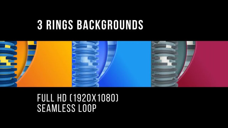 3 Frame Rings Backgrounds: Stock Motion Graphics