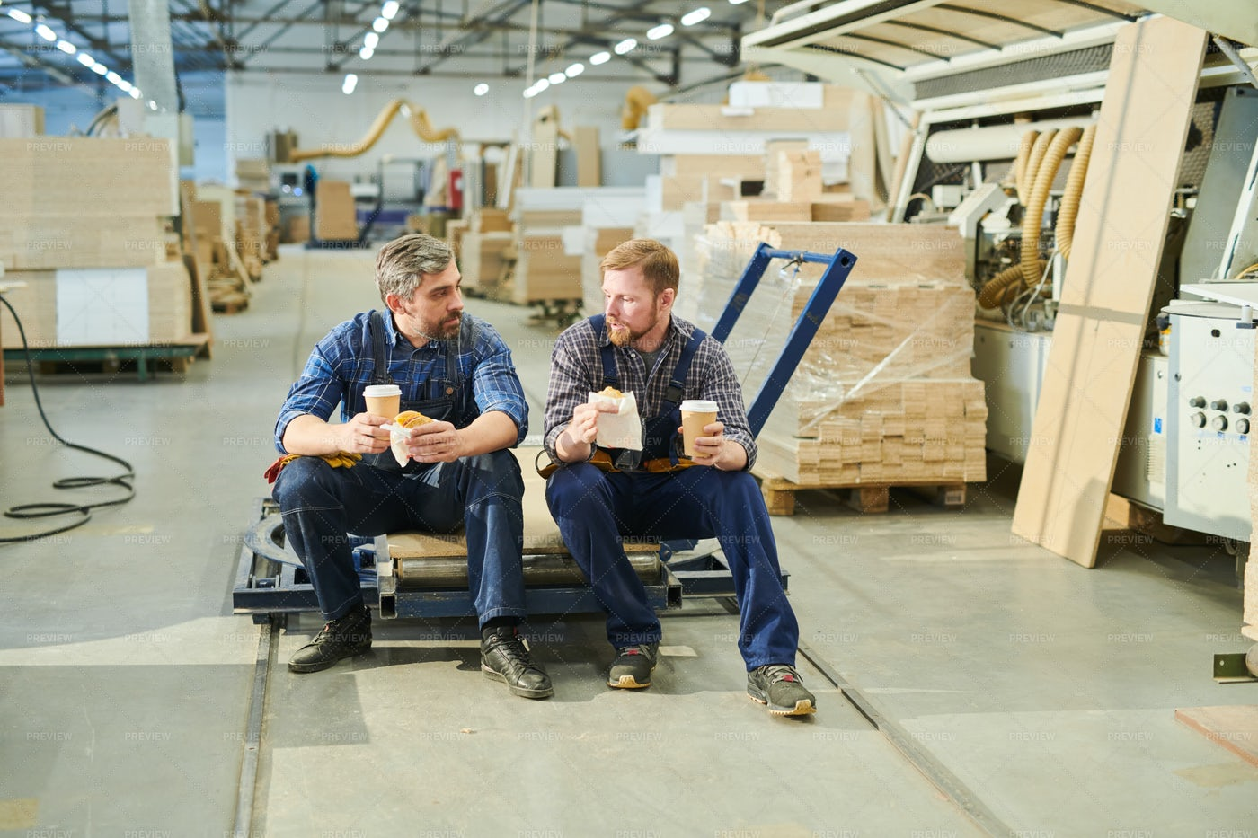 Handsome Male Workers In Uniform...: Stock Photos