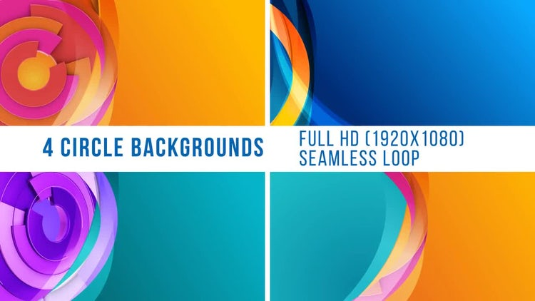 4 Circle Backgrounds: Motion Graphics