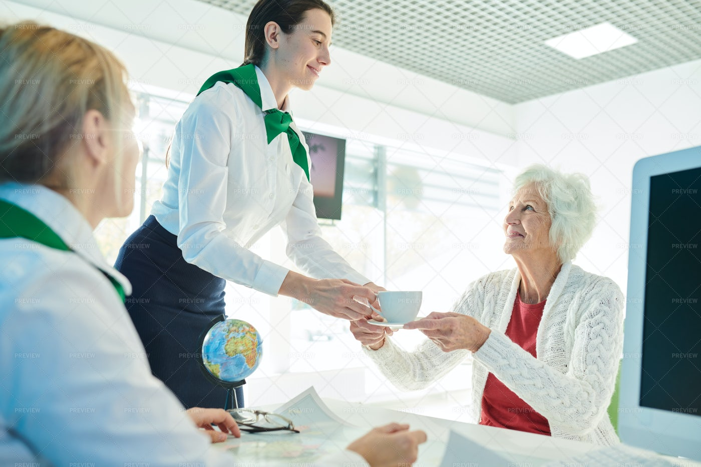 Taking Care Of Client In Travel...: Stock Photos