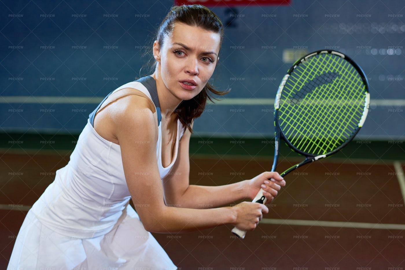 Fierce Tennis Player: Stock Photos