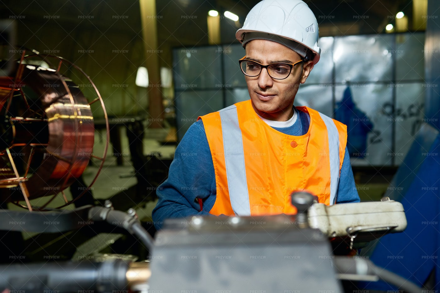 Young Factory Worker: Stock Photos