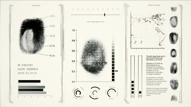 Fingerprint Scanning: Stock Motion Graphics