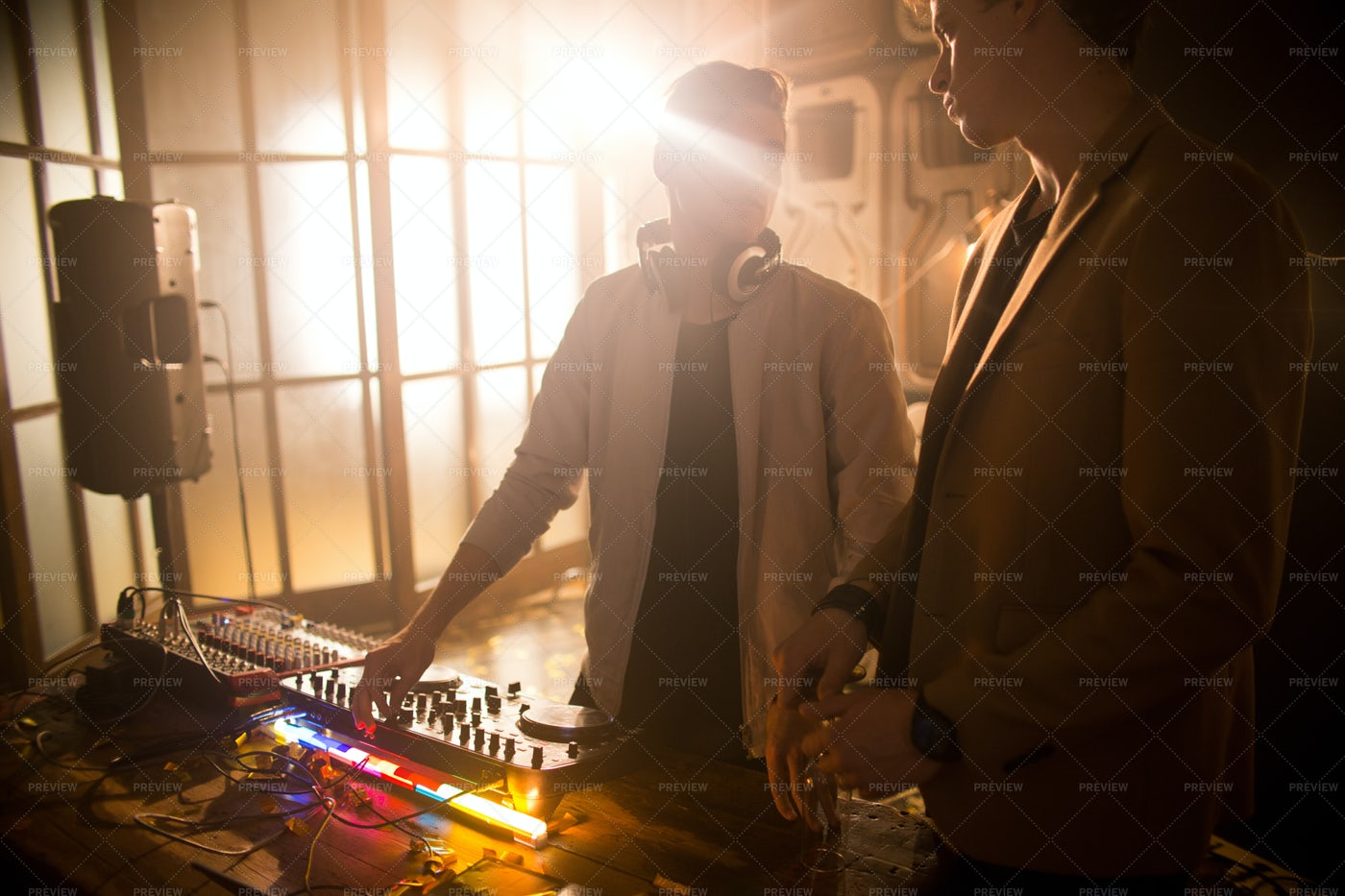 DJ Playing Music In Nightclub: Stock Photos