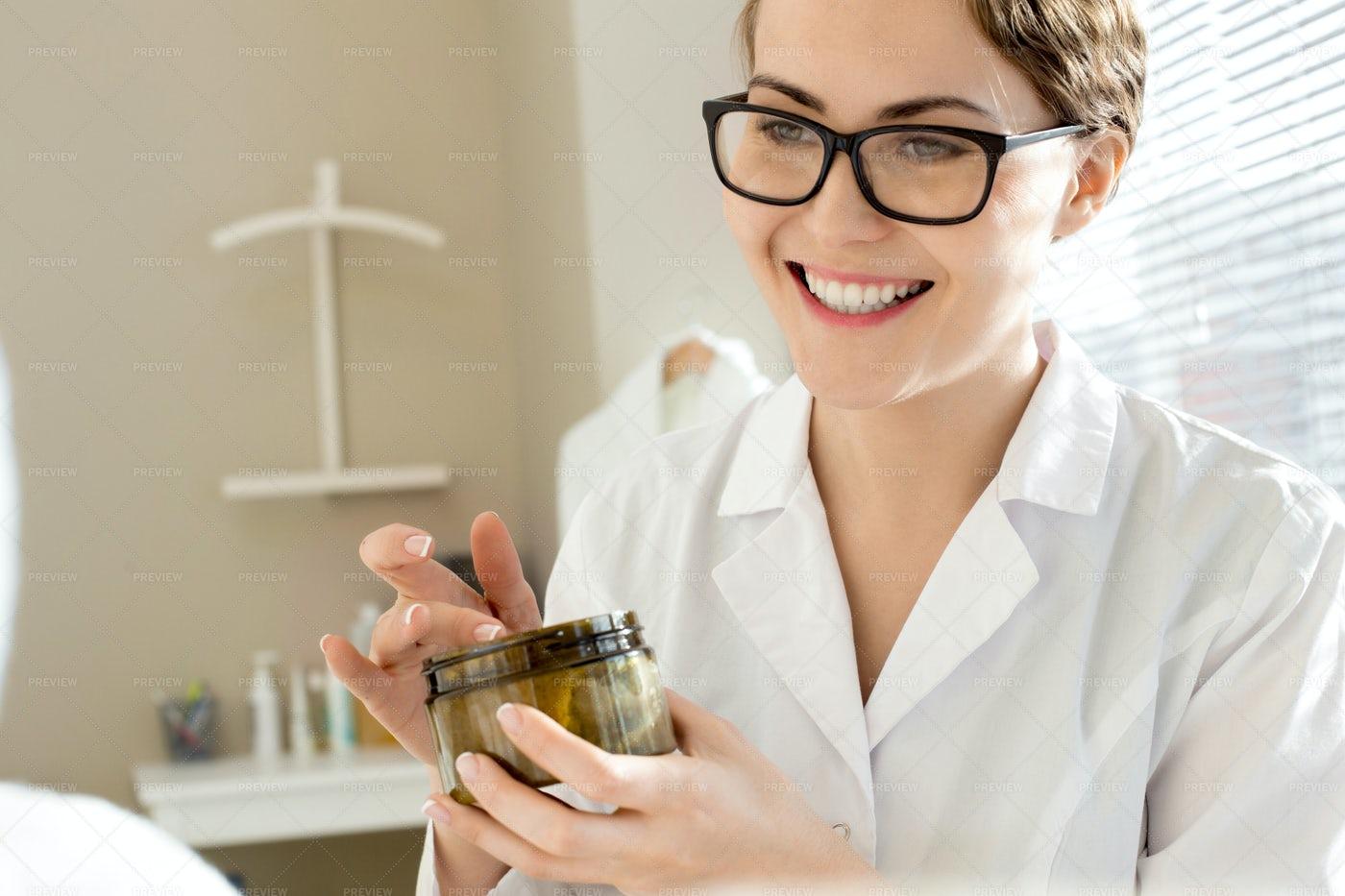 Cheerful Female Cosmetologist: Stock Photos