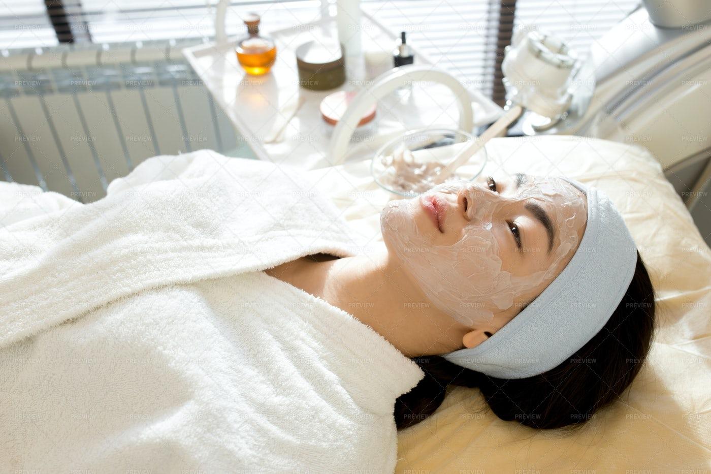 Asian Woman Enjoying SPA Treatment: Stock Photos