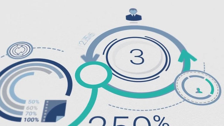 Corporate Logo Opener With Elements Of Infographics: After Effects Templates