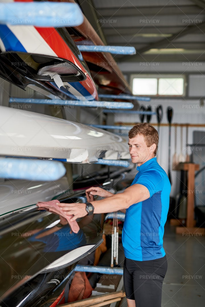 Man Preparing For The Competition: Stock Photos