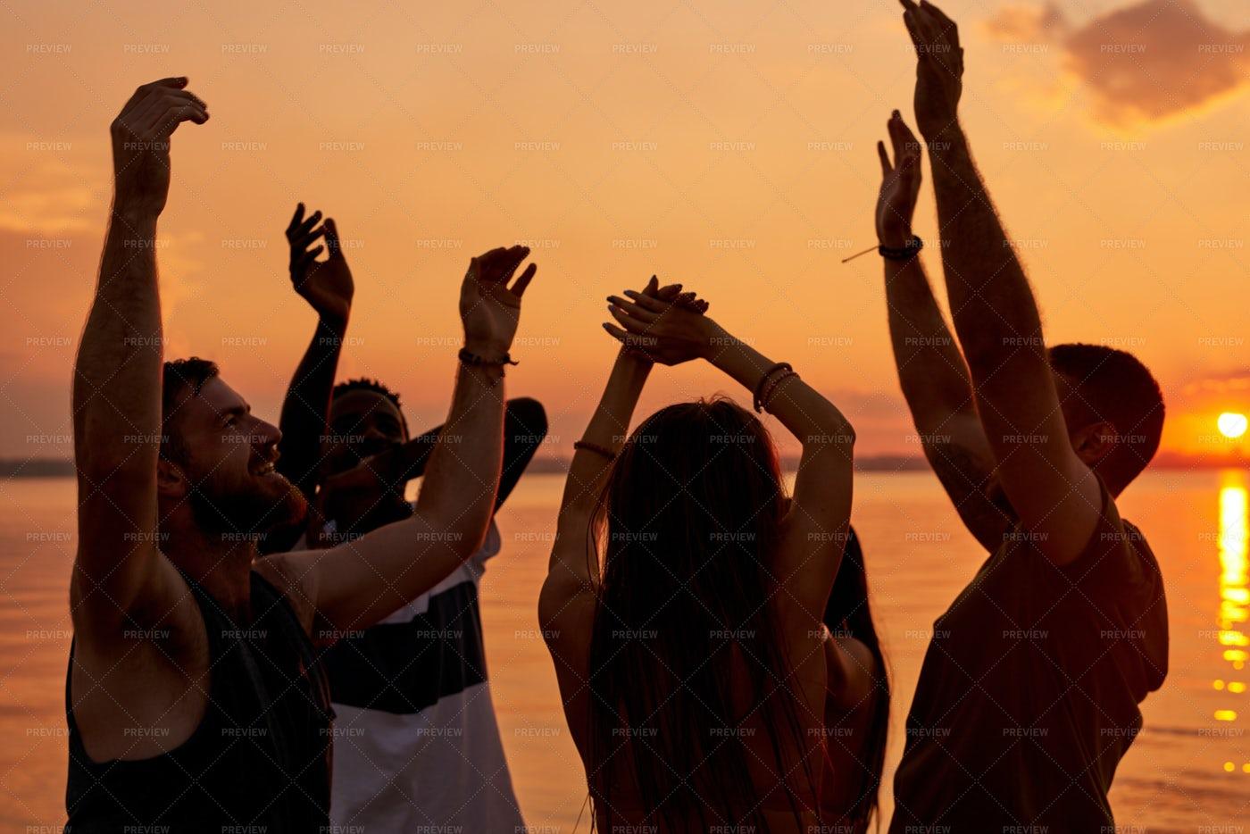 Ecstatic Young Students Enjoying...: Stock Photos