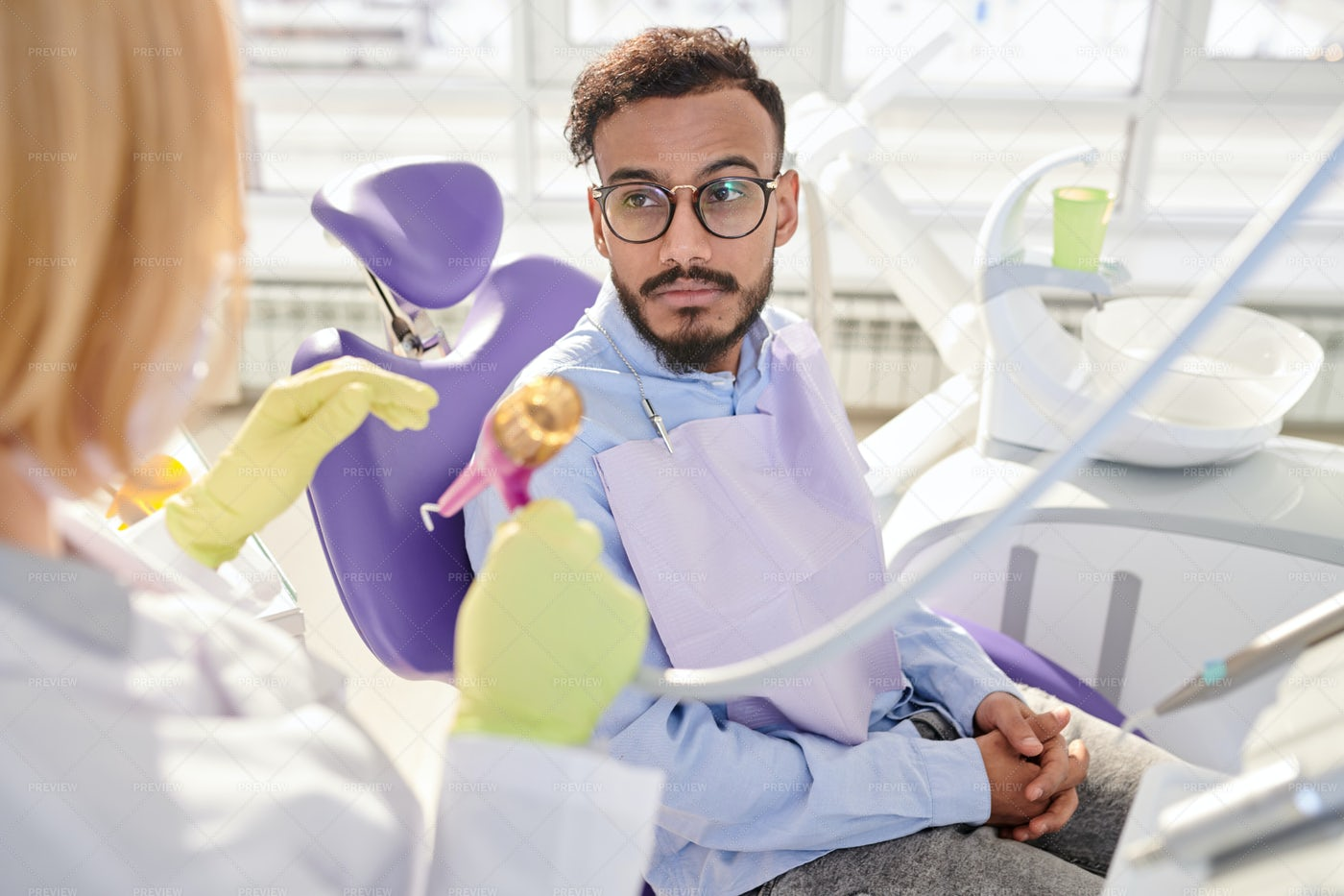 Young Patient Waiting For Procedure: Stock Photos