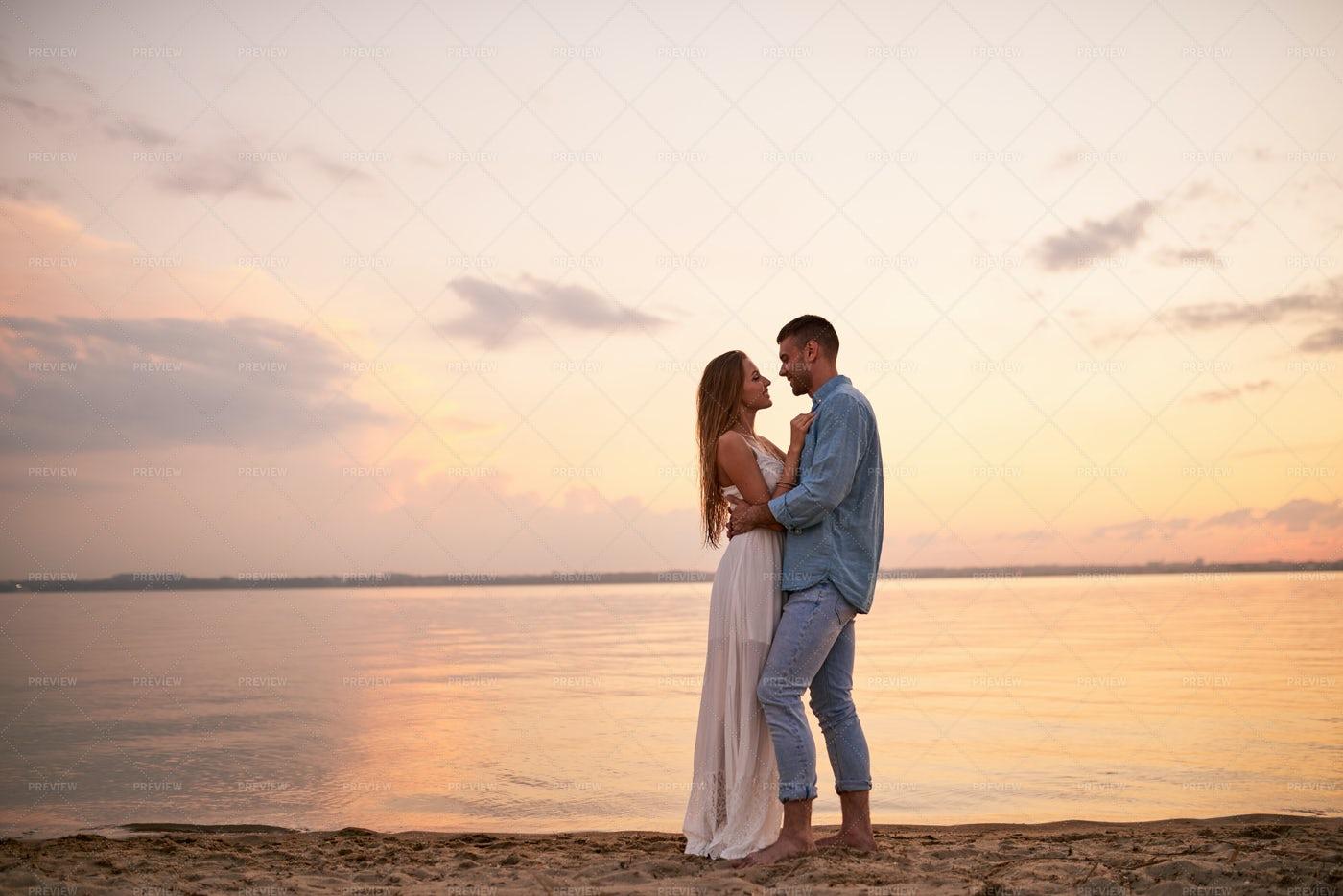 Happy Romantic Couple Enjoying...: Stock Photos