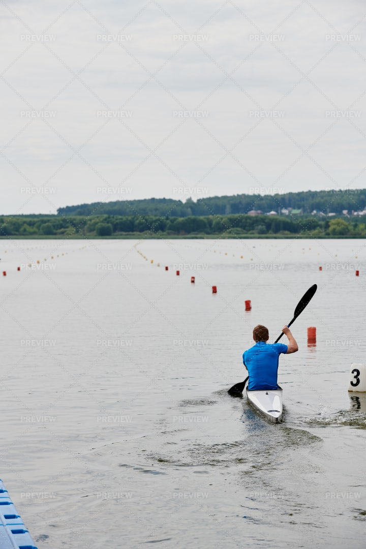 Sport Competition On Canoe: Stock Photos