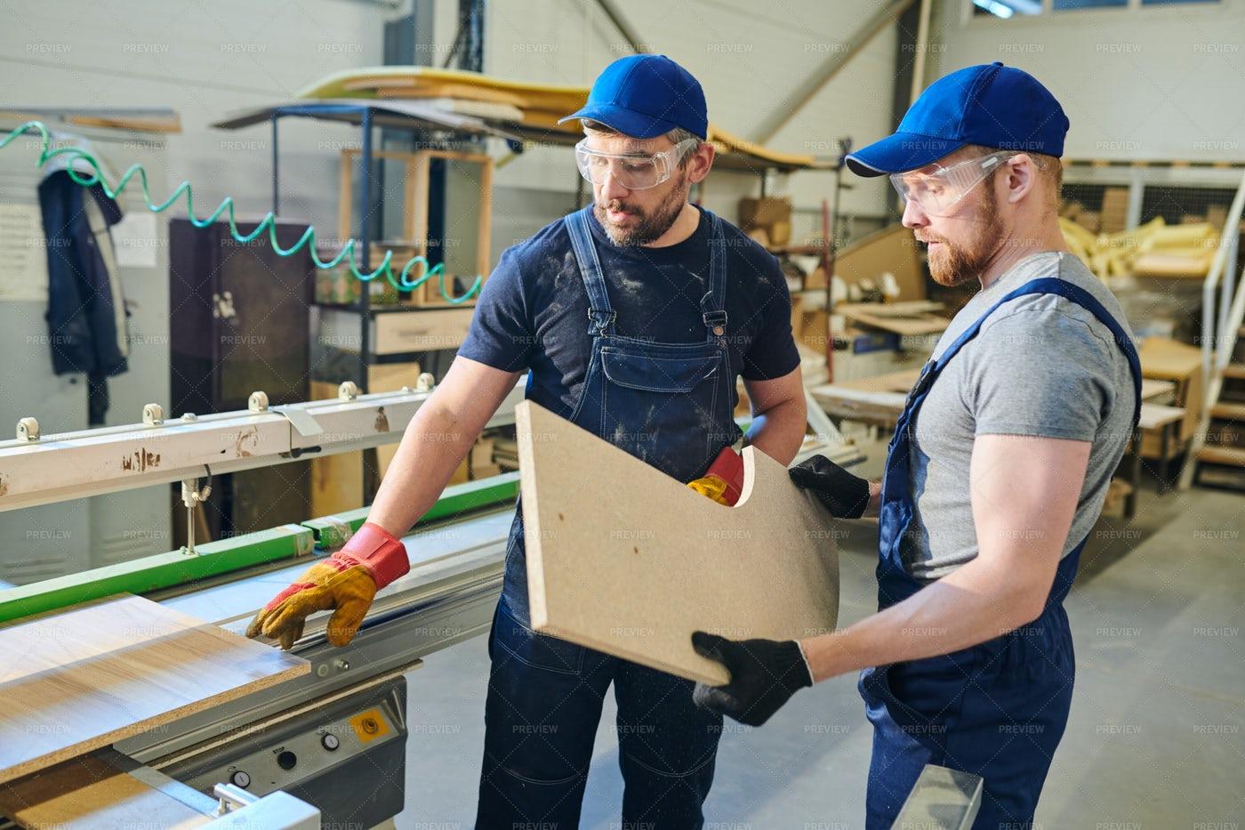 Furniture Engineers At Work: Stock Photos