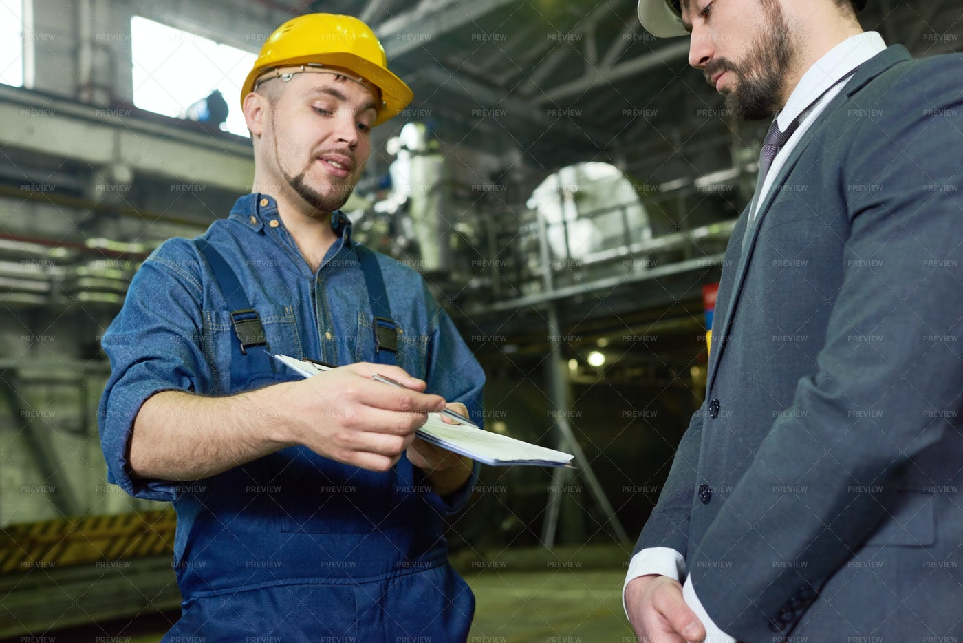 Inspection Passed At Plant: Stock Photos