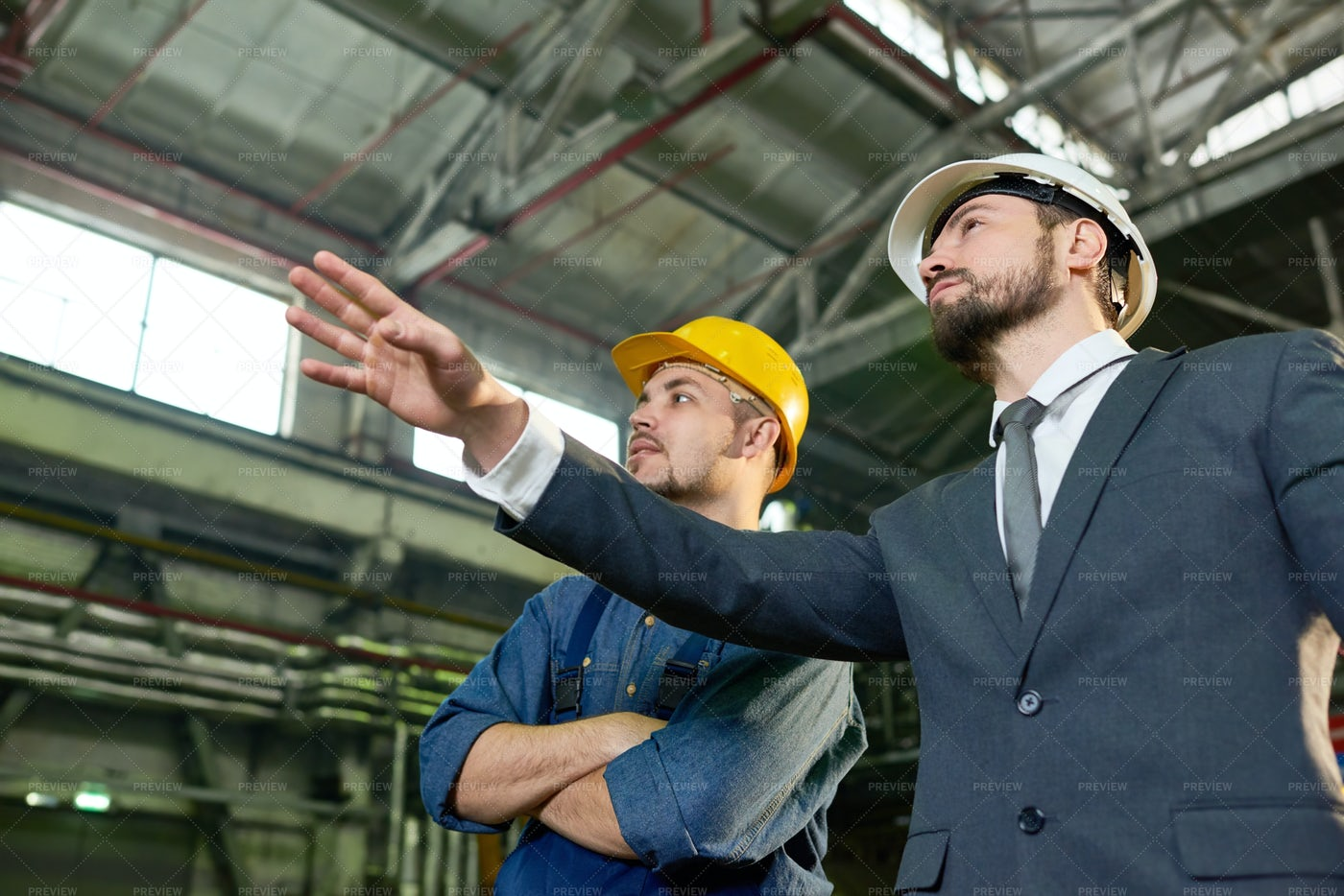 CEO Visiting Factory: Stock Photos