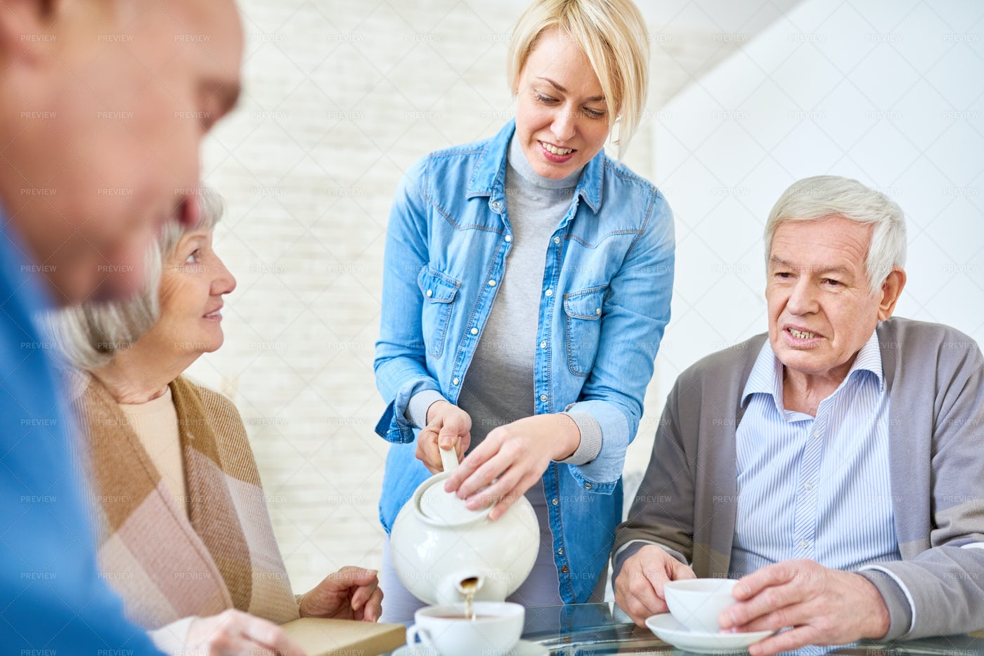 Family Lunch At Home: Stock Photos