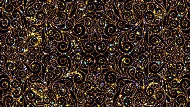Vintage Decorative Pattern Loop: Stock Motion Graphics