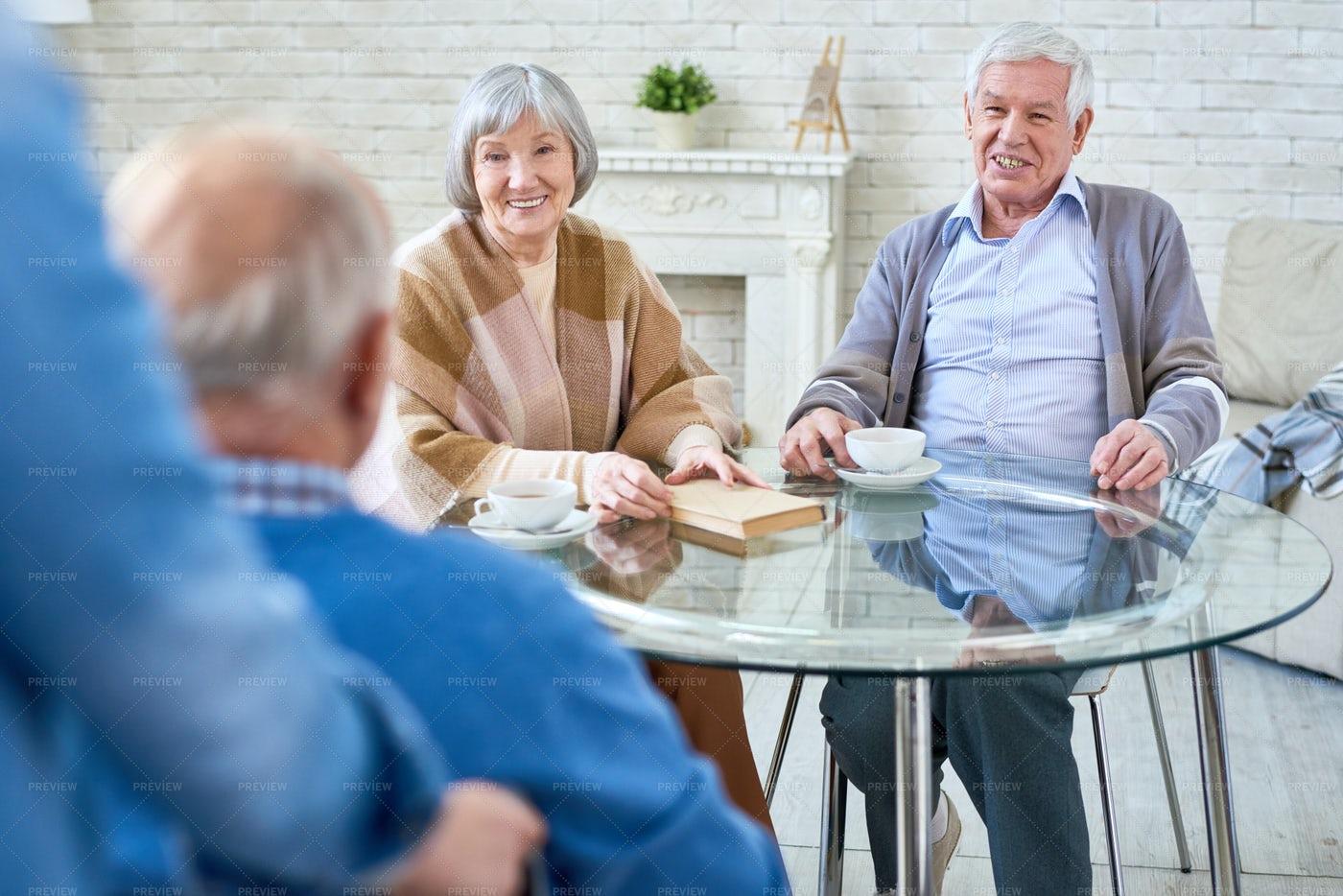 Happy Senior People In Modern...: Stock Photos