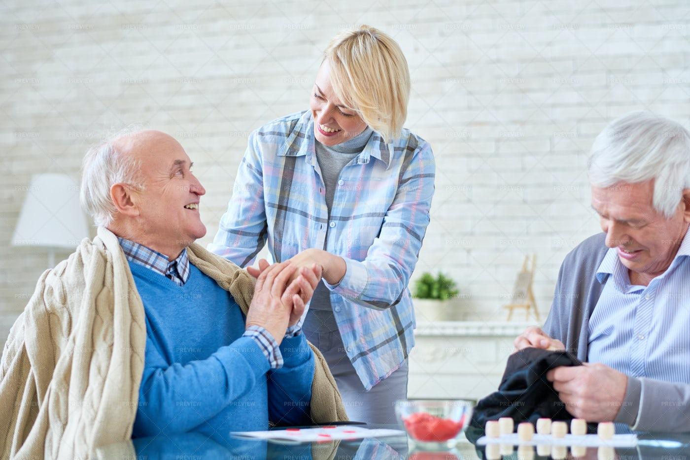 Seniors In Retirement Home: Stock Photos