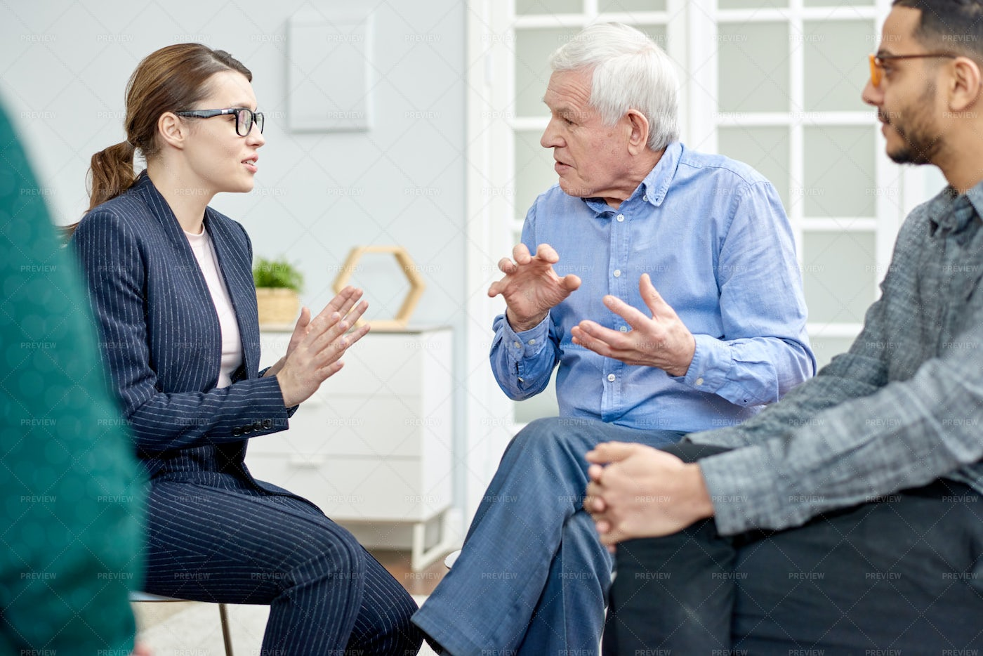 Productive Conversation With...: Stock Photos