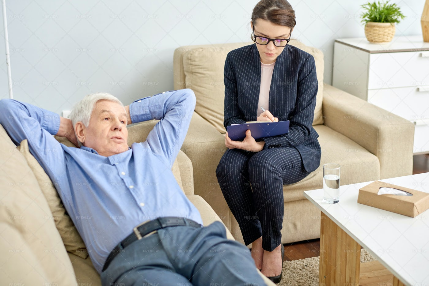 Therapy Session At Full Speed: Stock Photos