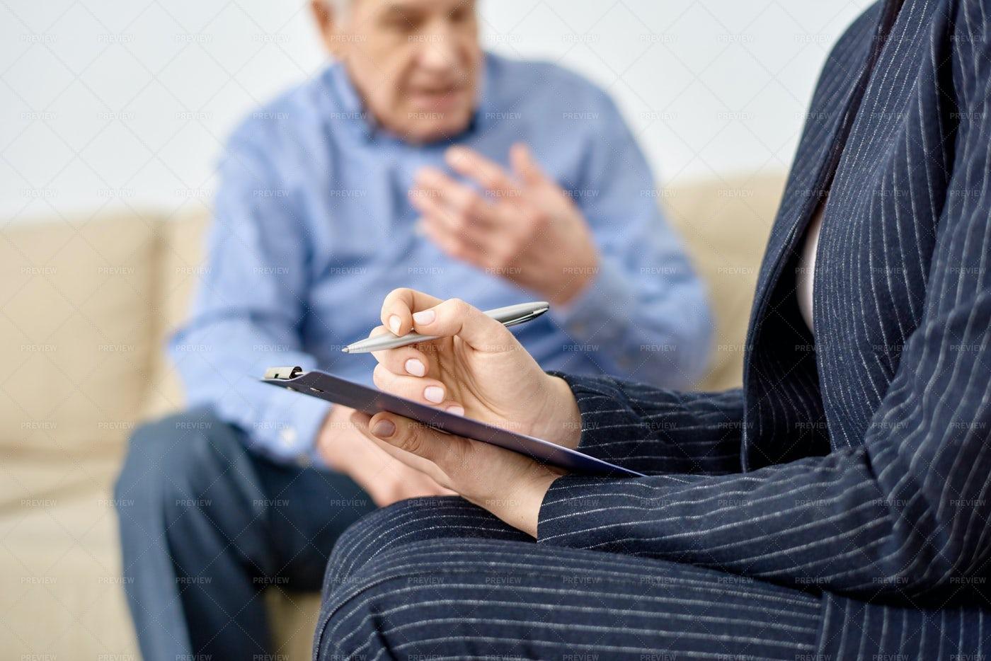 Consulting Senior Patient: Stock Photos