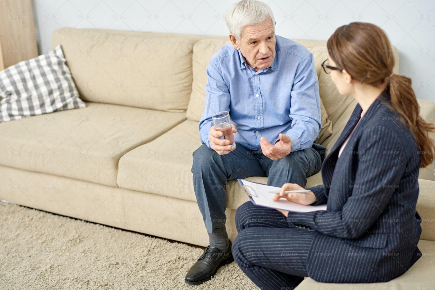 Senior Patient Talking To...: Stock Photos