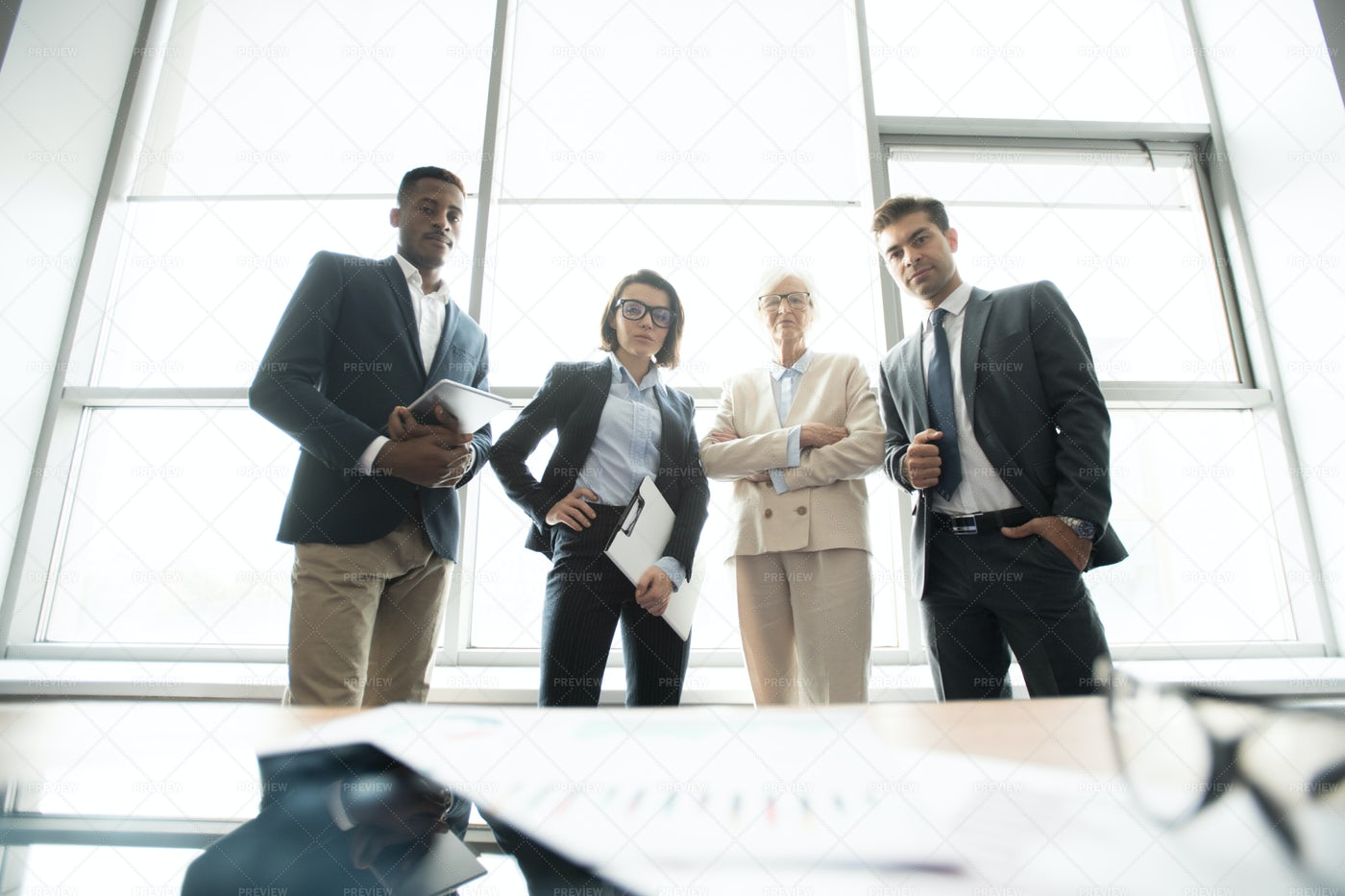 Confident Multi-ethnic Business...: Stock Photos