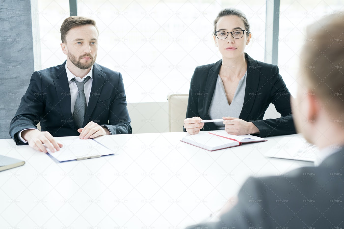 Modern Entrepreneurs At Meeting...: Stock Photos