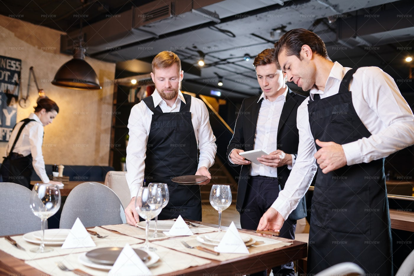 Serving Tables For Banquet: Stock Photos