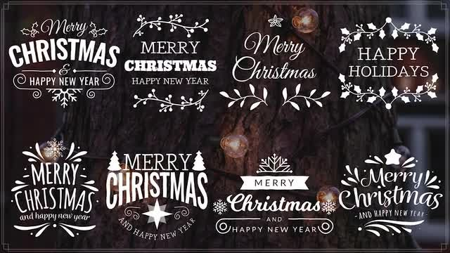 Merry Christmas Titles II: After Effects Templates
