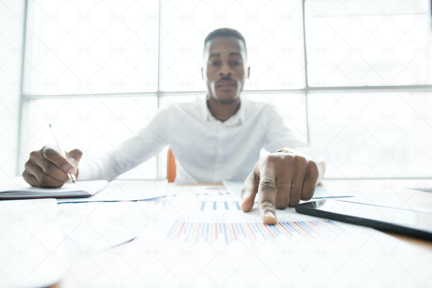Concentrated Financial Advisor...: Stock Photos