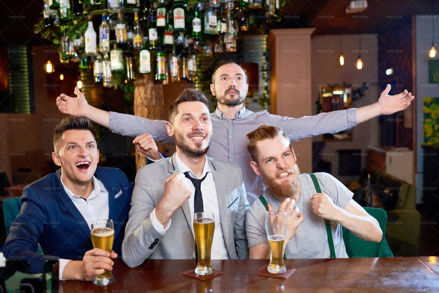 Football Fans Celebrating Victory: Stock Photos