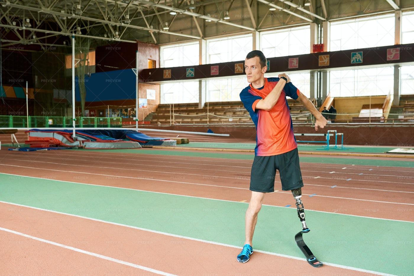 Adaptive Athlete Ready For Training: Stock Photos