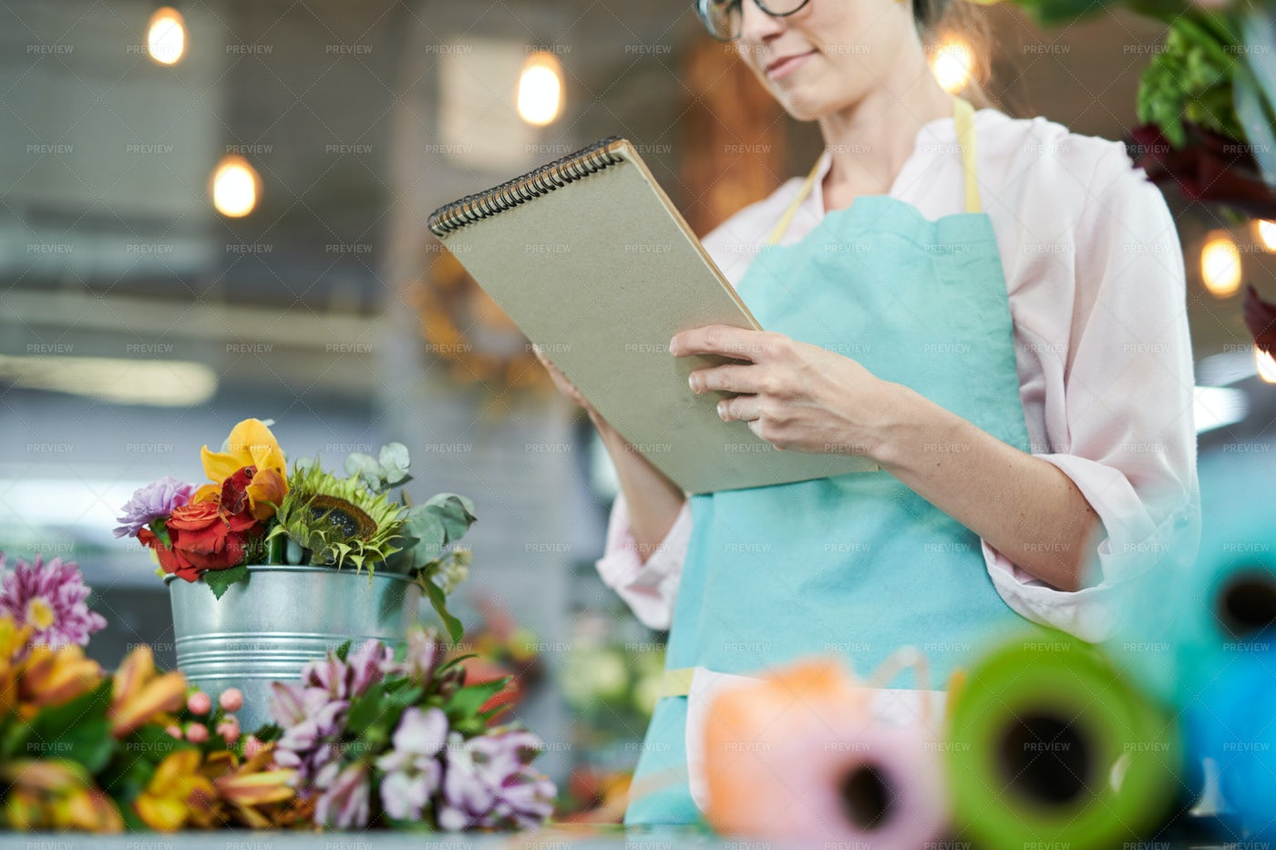 Bookkeeping In Shop: Stock Photos