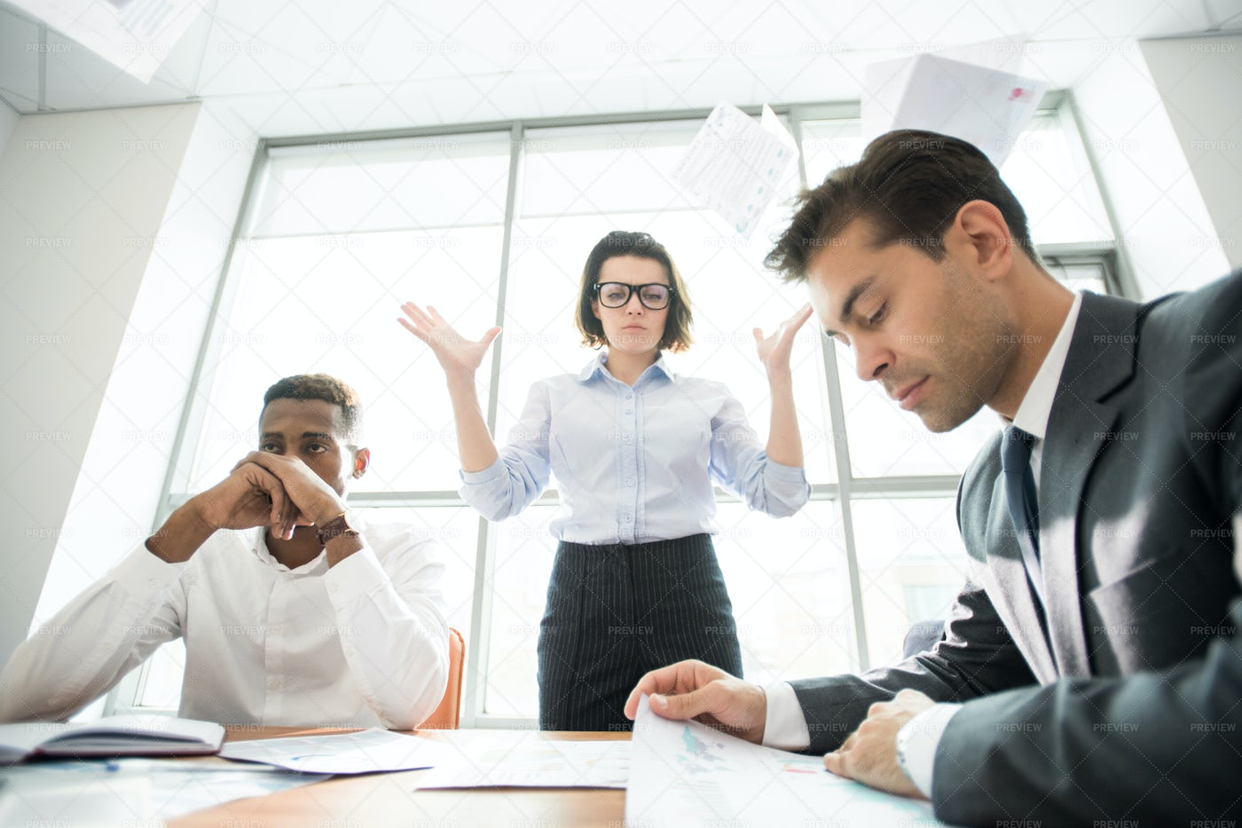 Lady Boss Disappointed In Her...: Stock Photos
