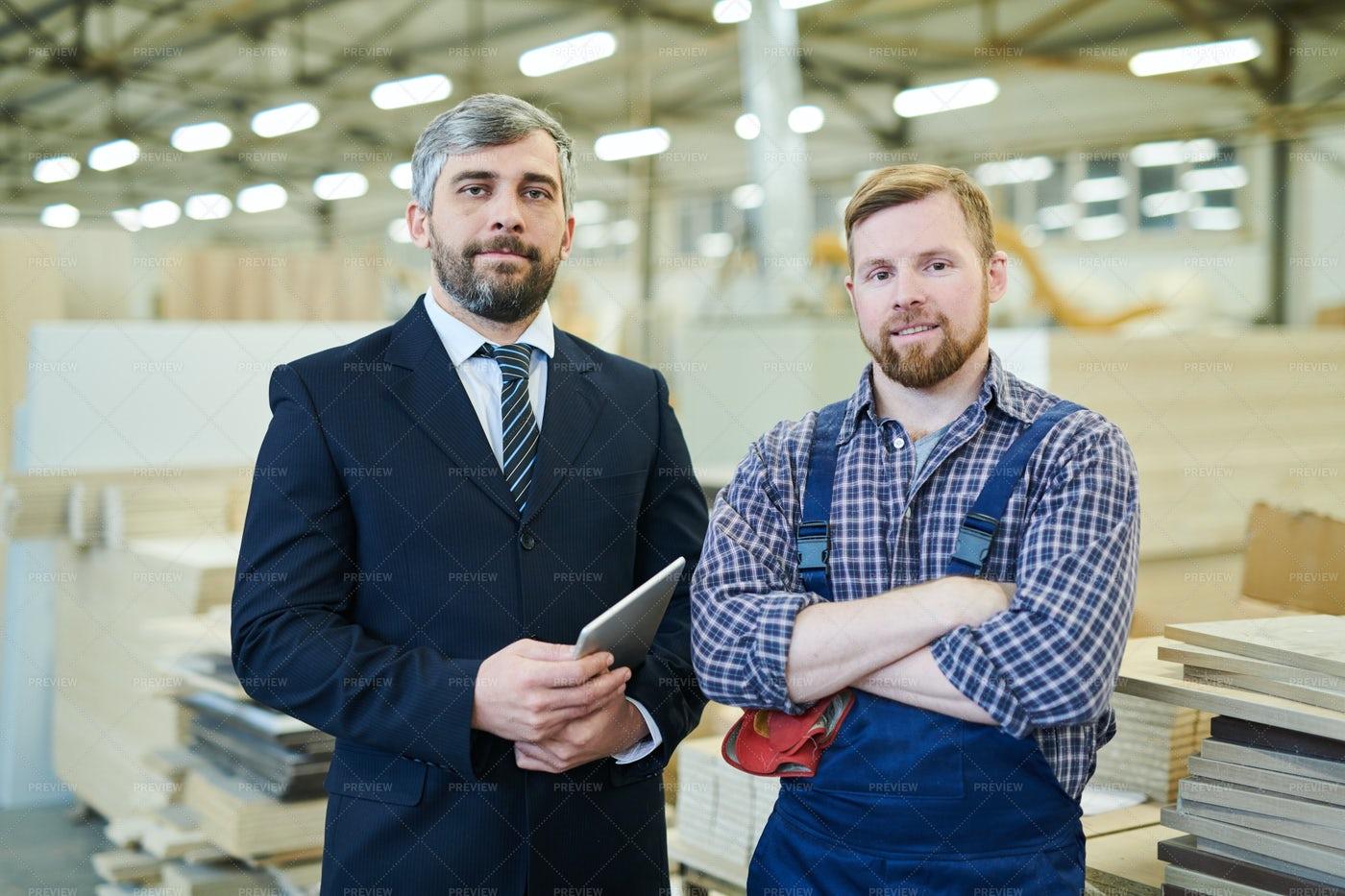 Businessman Visiting Industrial...: Stock Photos