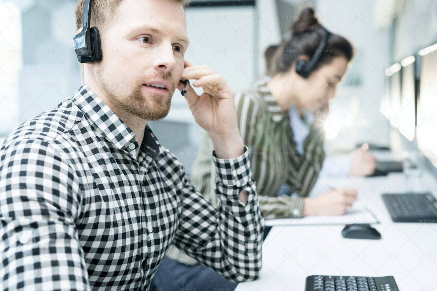 Young Customer Support Operator: Stock Photos