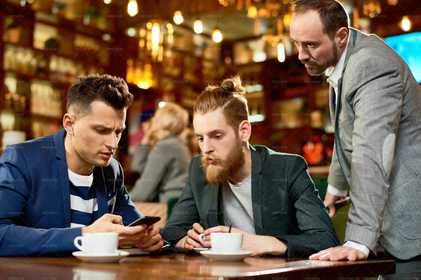 Informal Working Meeting With...: Stock Photos