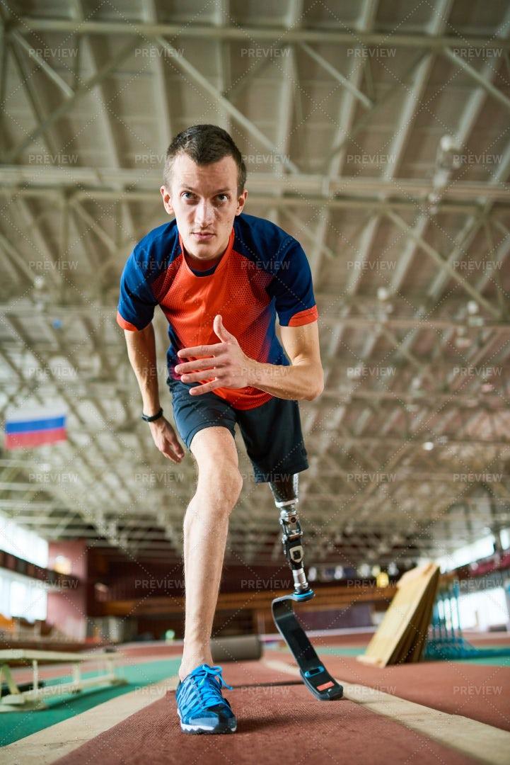 Disabled Runner On Start: Stock Photos