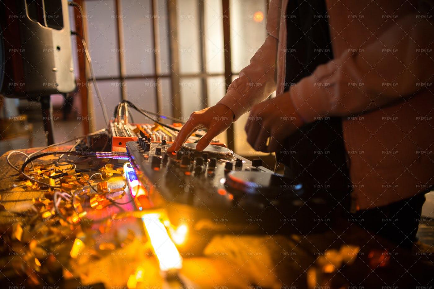 DJ At Club Party: Stock Photos
