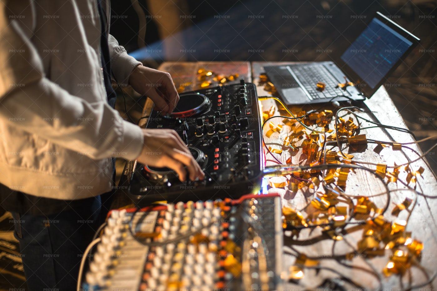 DJ Playing Music In Club: Stock Photos