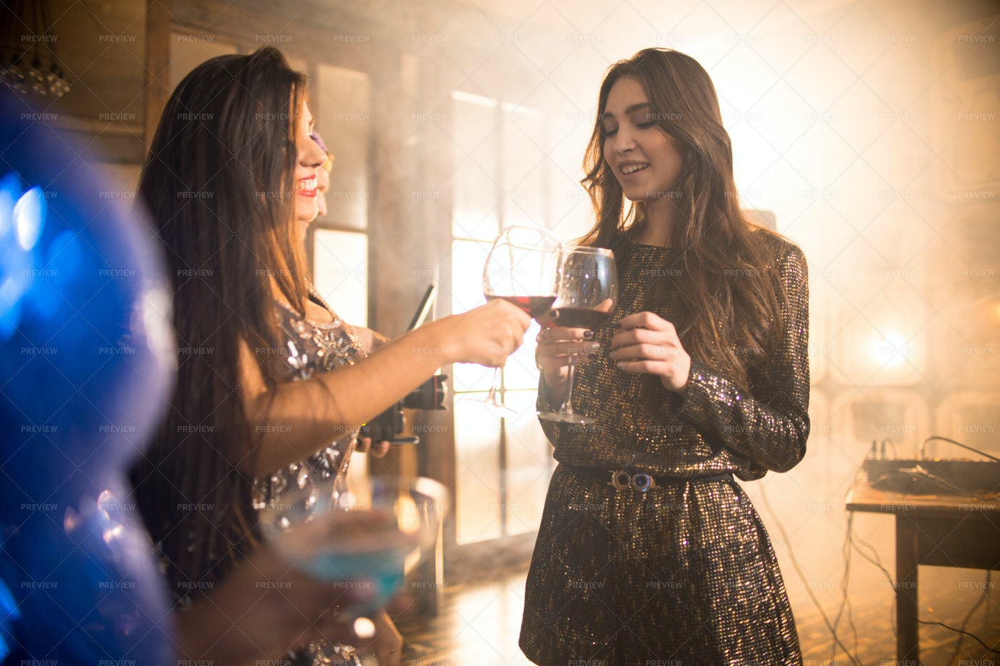 Beautiful Girls Enjoying Party: Stock Photos