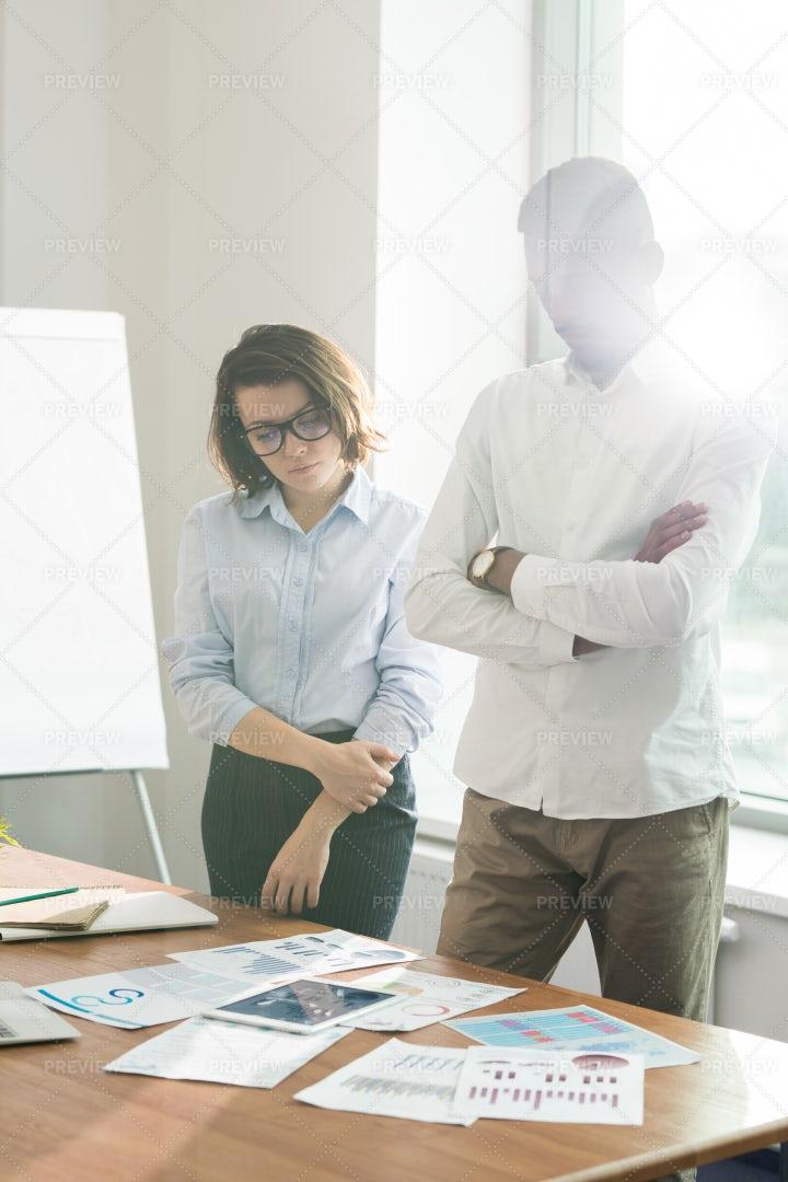 Serious Pensive Colleagues...: Stock Photos