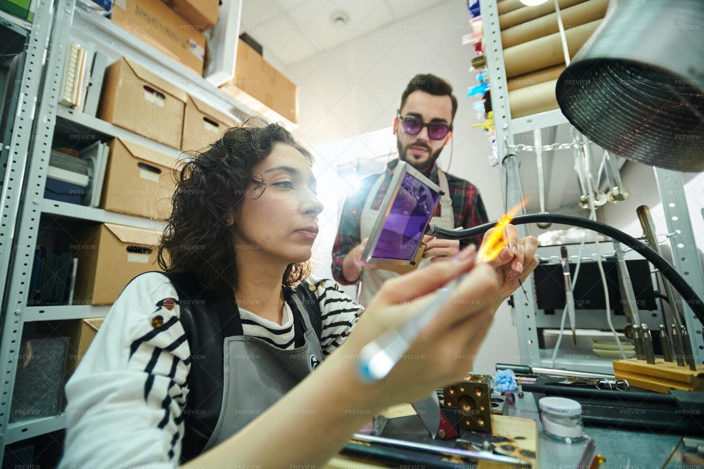 Glassmaking Workshop: Stock Photos