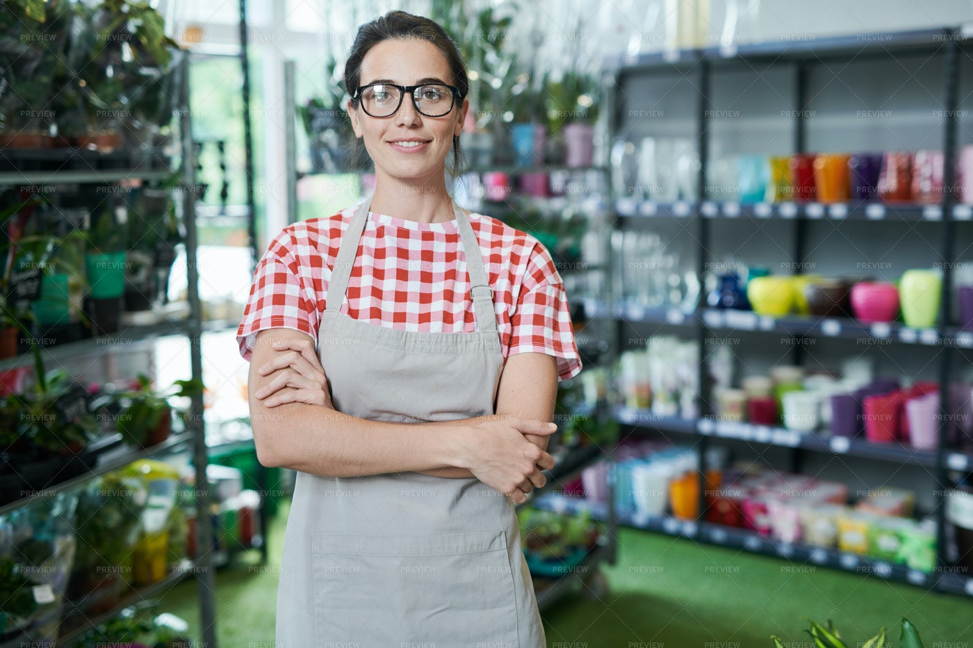 Flower Shop Owner: Stock Photos